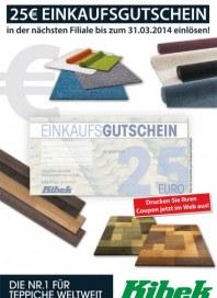Teppich Kibek 25€ Einkaufsgutschein März 2014 KW09