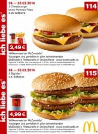 McDonalds Gutscheine 24.-28.02.2014 Februar 2014 KW09
