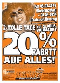Globus Baumarkt Haupflyer März 2014 KW10