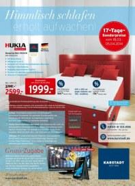 KARSTADT Matratzen & Bettwaren - Himmlisch schlafen erholt aufwachen März 2014 KW12