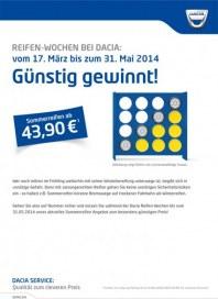Dacia Reifen-Wochen bei Dacia März 2014 KW12