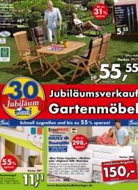 Dänisches Bettenlager Jubiläumsverkauf Gartenmöbel Mai 2014 KW19