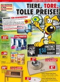 Das Futterhaus Tiere, Tore, tolle Preise Mai 2014 KW22