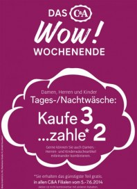 C&A Das WOW! Wochenende Juni 2014 KW23