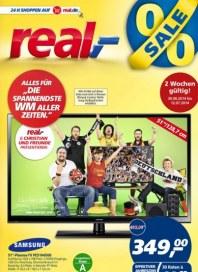 """real,- Alles für """"Die spannendste WM aller Zeiten."""" Juni 2014 KW27 1"""