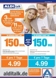 Aldi Nord Aldi Talk - Ihr Mobilfunk und Internet Prepaid-Tarif Juli 2014 KW30