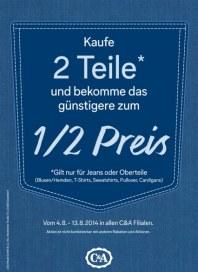 C&A Rabattaktion August 2014 KW32