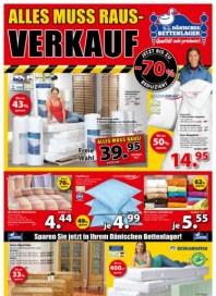 Dänisches Bettenlager Alles muss raus-Verkauf August 2014 KW33