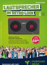 mobilcom-debitel Lautsprecher im Retro-Look August 2014 KW33