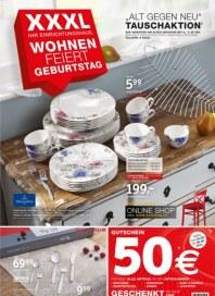 XXXL Möbelhäuser XXXL Wohnen feiert Geburtstag September 2014 KW36