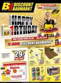 B1 Discount Baumarkt Aktuelle Angebote September 2014 KW36