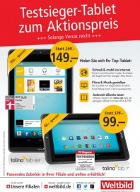 Weltbild Testsieger-Tablet zum Aktionspreis September 2014 KW37