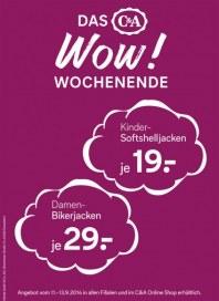 C&A Das WOW! Wochenende September 2014 KW37 1