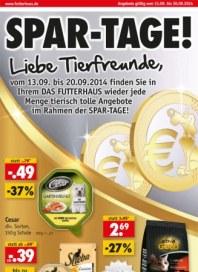 Das Futterhaus Spar-Tage September 2014 KW37