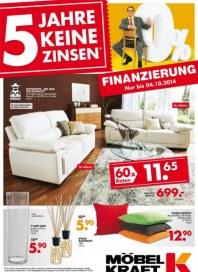 Möbel Kraft 5 Jahre keine Zinsen* September 2014 KW37