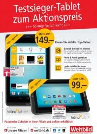 Weltbild Testsieger-Tablet zum Aktionspreis Oktober 2014 KW40
