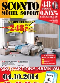 Sconto Möbel-Sofort September 2014 KW39