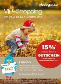 Baby Walz VIP-Shopping Oktober 2014 KW40