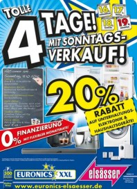 Euronics Tolle 4 Tage! Mit Sonntagsverkauf Oktober 2014 KW42