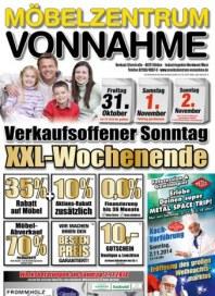 Möbelzentrum Vonnahme XXL-Wochenende Oktober 2014 KW42