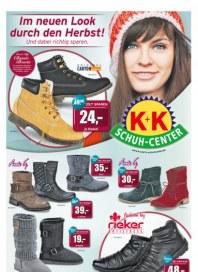K+K Schuh-Center Im neuen Look durch den Herbst November 2014 KW44