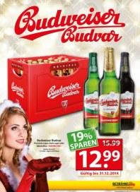 Getränkeland Angebot - Budweiser Dezember 2014 KW49