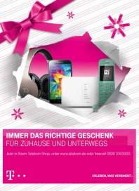 Telekom Shop Immer das richtige Geschenk Dezember 2014 KW50