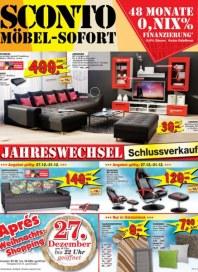 Sconto Möbel-Sofort Dezember 2014 KW52