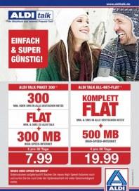 Aldi Nord Aldi Talk - Ihr Mobilfunk und Internet Prepaid-Tarif Dezember 2014 KW52