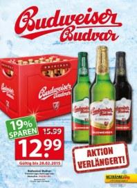 Getränkeland Budweiser Januar 2015 KW02