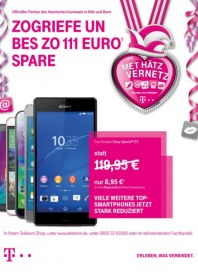 Telekom Shop Zogriefe un bes zo 111 Euro¹ spare Januar 2015 KW05