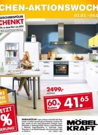 Möbel Kraft Küchen-Aktionswochen Januar 2015 KW05