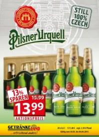 Getränkeland Pilsner Urquell...Angebot März 2015 KW14
