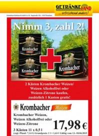 Getränkeland Krombacher...Angebot April 2015 KW16