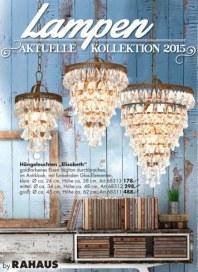 Rahaus Lampen - Aktuelle Kollektion 2015 Mai 2015 KW19