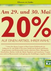 Pflanzen Kölle 20% auf einen Artikel Ihrer Wahl Mai 2015 KW22