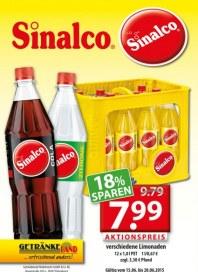 Getränkeland Sinalco im Angebot Juni 2015 KW25