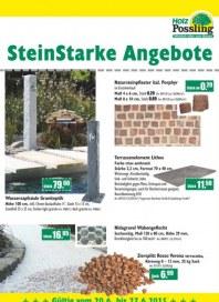Holz Possling SteinStarke Angebote Mai 2015 KW21