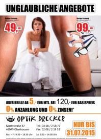 Optik Drecker Unglaubliche Angebote Juli 2015 KW28