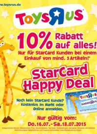Toys''R''Us 10% Rabatt auf alles Juli 2015 KW29