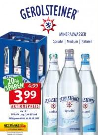 Getränkeland Gerolsteiner...Aktion August 2015 KW32