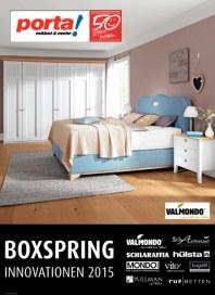 Porta Möbel Boxspring Innovationen 2015 August 2015 KW34