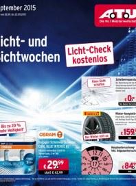 A.T.U Auto Teile Unger Licht- und Sichtwochen September 2015 KW36