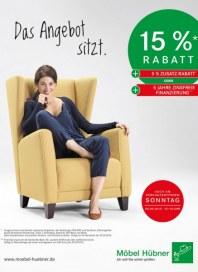 Möbel Hübner Das Angebot sitzt September 2015 KW36
