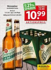 Getränkeland Wernesgrüner...Angebot September 2015 KW37