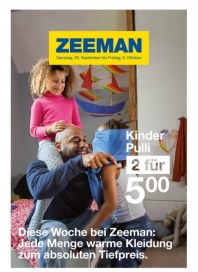 Zeeman Jede Menge warme Kleidung zum absoluten Tiefpreis September 2015 KW39