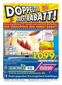 Euronics Doppelter Herbst-Rabatt Oktober 2015 KW42