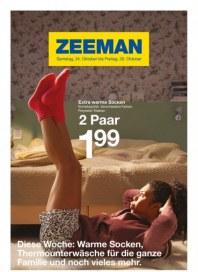 Zeeman Diese Woche: Warme Socken, Thermounterwäsche für die ganze Familie und noch vieles mehr Oktob