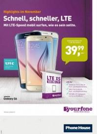 yourfone Schnell, schneller, LTE November 2015 KW44