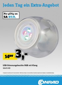 Conrad Electronic Jeden Tag ein Extra-Angebot November 2015 KW45 5
